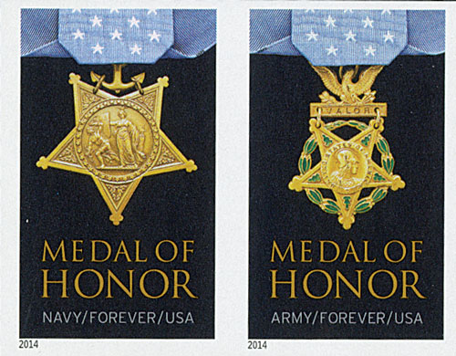 2014 First-Class Forever Stamp - The Medal of Honor: Korean War