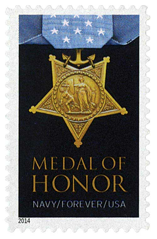 2014 First-Class Forever Stamp - The Medal of Honor: Korean War - Navy