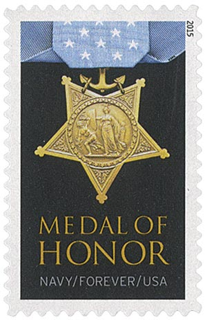 2015 First-Class Forever Stamp - The Medal of Honor: Vietnam - Navy