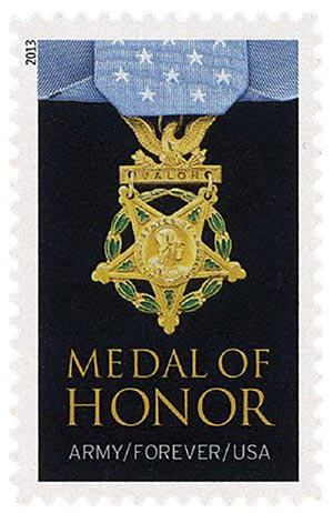 2013 First-Class Forever Stamp - The Medal of Honor: World War II - Army