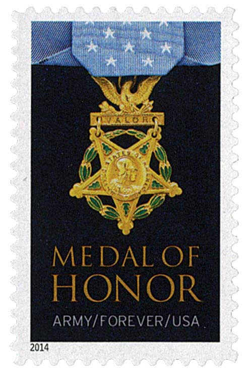2014 First-Class Forever Stamp - The Medal of Honor: Korean War - Army