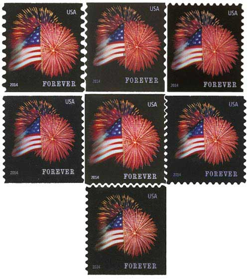 2014 Star Spangled Banner, Set of 7 stamps