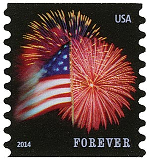 2014 First-Class Forever Stamp - The Star Spangled Banner (CCL Label, coil)