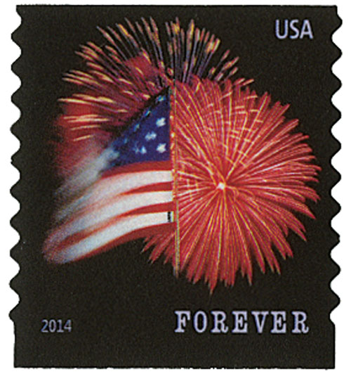 2014 First-Class Forever Stamp - The Star Spangled Banner (Ashton Potter, coil)