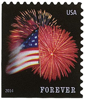 2014 First-Class Forever Stamp - The Star Spangled Banner (Ashton Potter, booklet)