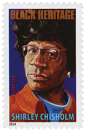 2014 First-Class Forever Stamp - Black Heritage: Shirley Chisholm