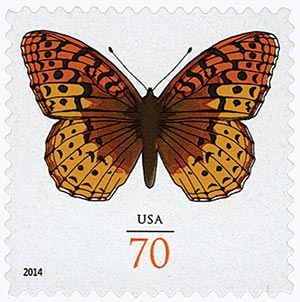 2014 70c Great Spangled Fritillary Butterfly