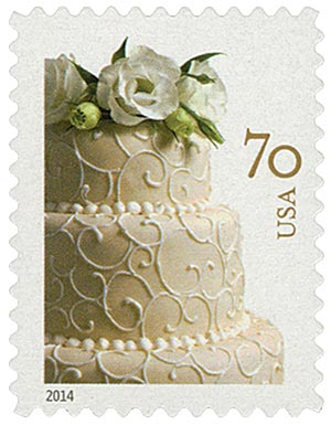 2014 70c Wedding Series: Wedding Cake