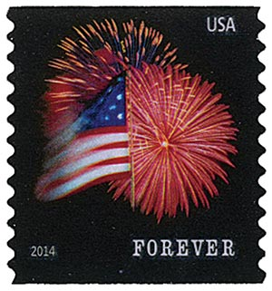 2014 First-Class Forever Stamp - The Star Spangled Banner (Sennett Security Products, coil)