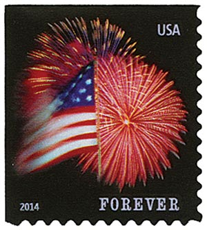 2014 First-Class Forever Stamp - The Star Spangled Banner (CCL Label, booklet)