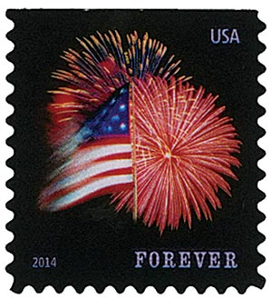 2014 First-Class Forever Stamp - The Star Spangled Banner (Sennett Security Products, booklet)