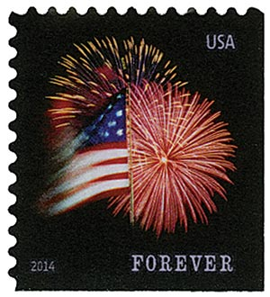 2014 First-Class Forever Stamp - The Star Spangled Banner (Sennett Security Products, ATM booklet)