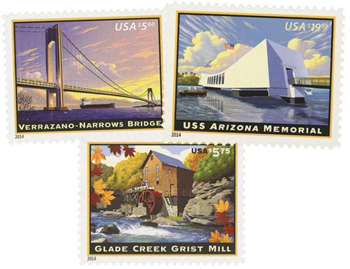 2014 Priority and Express Mail, set of 3 stamps