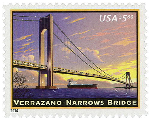 2014 $5.60 Verrazano-Narrows Bridge, Priority Mail