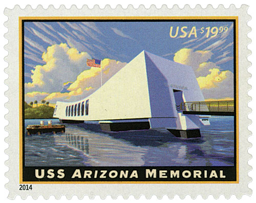 2014 $19.99 USS Arizona Memorial, Express Mail
