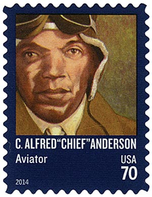 2014 70c Distinguished Americans: C. Alfred Chief Anderson
