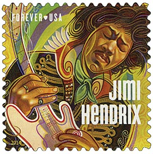 2014 First-Class Forever Stamp - Music Icons Series: Jimi Hendrix