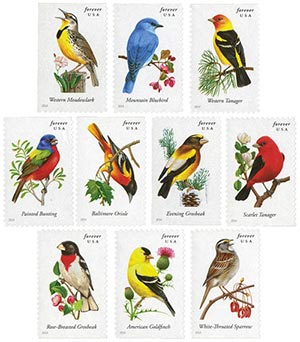 2014 First-Class Forever Stamp - Songbirds