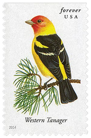 2014 First-Class Forever Stamp - Songbirds: Western Tanager