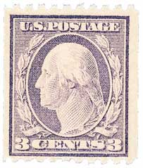1917 3c Washington, violet, type I