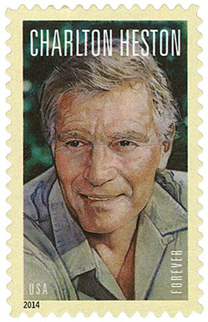 2014 First-Class Forever Stamp - Legends of Hollywood: Charlton Heston