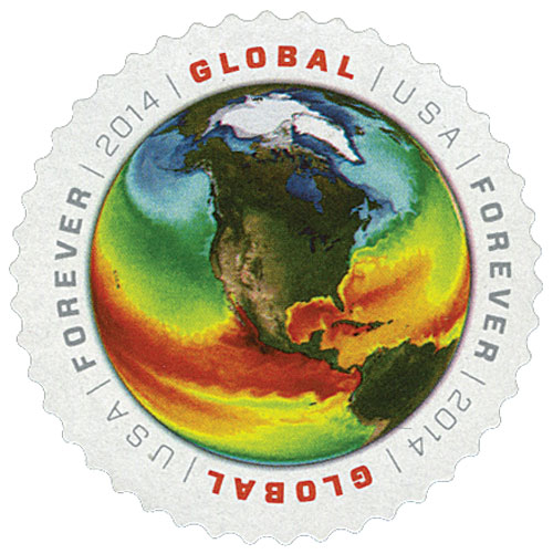 2014 Global Forever Stamp - Sea Surface Temperatures