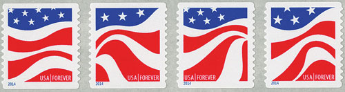 2014 First-Class Forever Stamp - Red, White and Blue