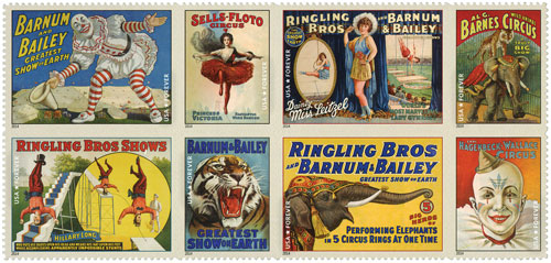 2014 First-Class Forever Stamp - Vintage Circus Posters