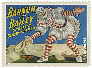 2014 First-Class Forever Stamp - Vintage Circus Posters: Barnum and Bailey, Clown