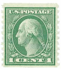 1916 1c Washington green