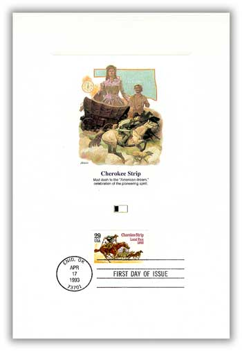 Item #4900480 –Cherokee Strip First Day Proof Card.