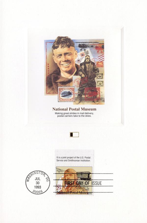 1993 Postal Museum - Air Mail Tab Proofcard (US #2781)