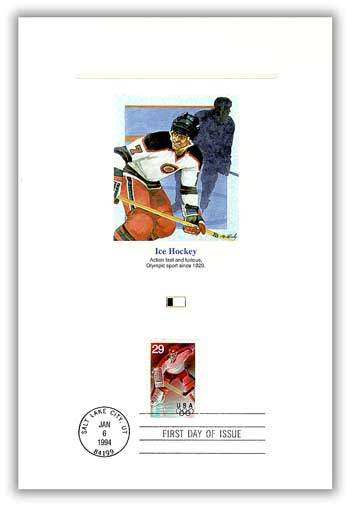 1994 Winter Olympics-Ice Hockey Proofcard