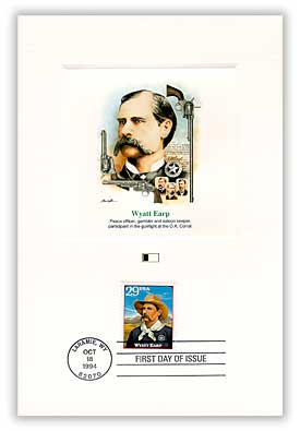 Item #4902025 – Earp First Day Proof Card.