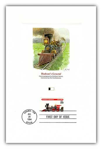1994 Locomotives - Hudsons General Proofcard