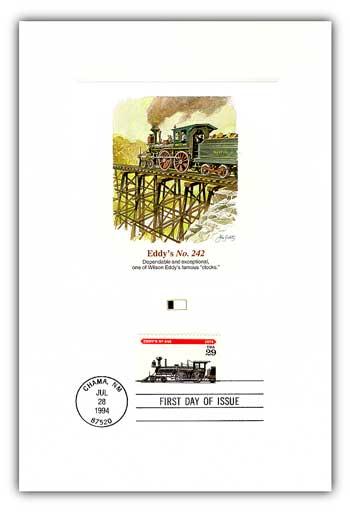 1994 Locomotives - Eddys No. 242 Proofcard