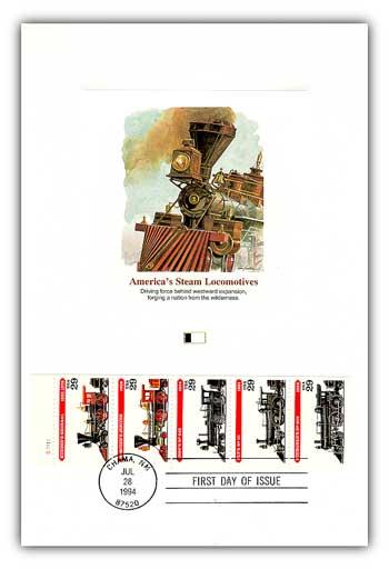 1994 Americas Steam Locomotives Proofcard