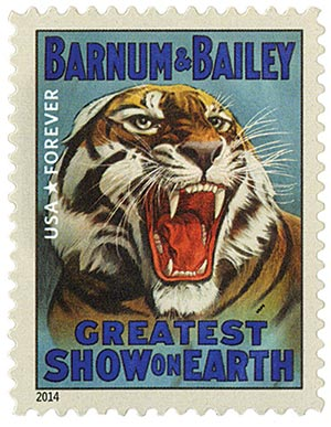 2014 First-Class Forever Stamp - Vintage Circus Posters: Barnum & Bailey Tiger