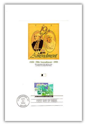 1995 75th Anniversay of Suffrage Proofcard