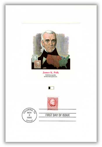 1995 James Polk Proofcard