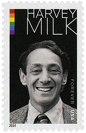 2014 First-Class Forever Stamp - Harvey Milk