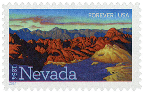 2014 First-Class Forever Stamp - Statehood: Nevada Sesquicentennial