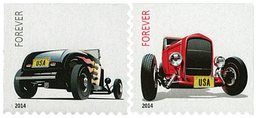 2014 First-Class Forever Stamp - Hot Rods