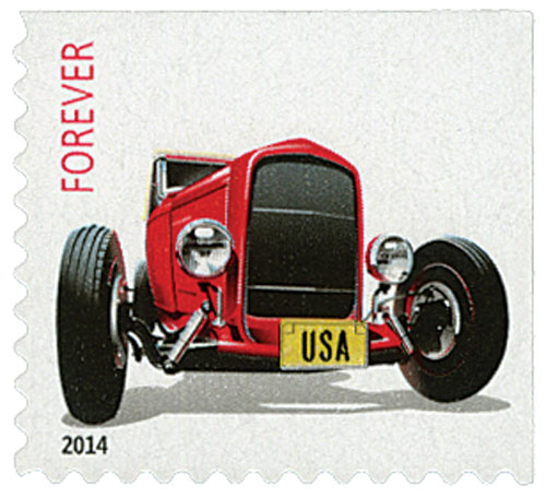 "2014 First-Class Forever Stamp - Hot Rods: Front of 1932 Ford ""Deuce"" Roadster"