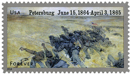 2014 First-Class Forever Stamp - The Civil War Sesquicentennial, 1864: The Battle of Petersburg