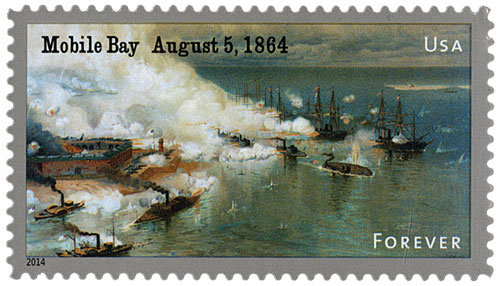 2014 First-Class Forever Stamp - The Civil War Sesquicentennial, 1864: The Battle of Mobile Bay