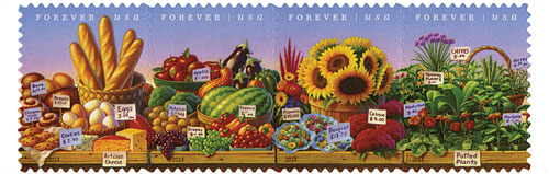 2014 First-Class Forever Stamp - Farmers Markets