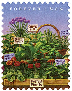 2014 First-Class Forever Stamp - Farmers Markets: Plants