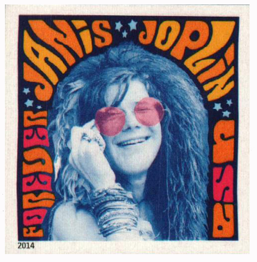 2014 First-Class Forever Stamp - Imperforate Music Icons Series: Janis Joplin