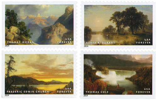 2014 First-Class Forever Stamp - American Treasures: Hudson River School Paintings